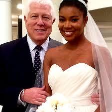 gabrielle union wedding dress gabrielle union s wedding dress designer dennis basso shares details