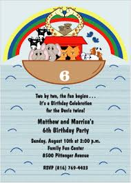 noah u0027s ark birthday invitations wording idea twins birthday