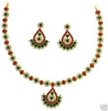 gold diamond emerald necklace images Sterling silver gold plated ruby emerald designer necklace set jpg