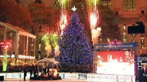 fireworks accompany bryant park tree lighting nbc new york