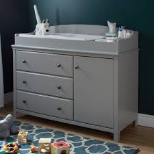 south shore cotton candy changing table with drawers soft gray south shore cotton candy changing table with removable changing
