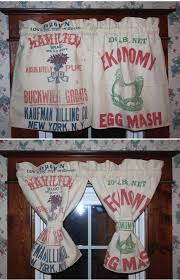 Vintage Cowboy Curtains by Curtains Made From Vintage Feed Sack U0027s That I U0027m Sewing For A