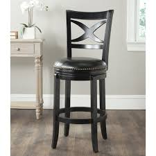 Swivel Bar Stool With Back Furniture Dark Pergo Flooring With White Baseboard And Black Wood