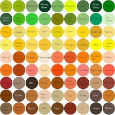 custom 25 shades of orange names design decoration of it u0027s