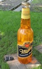 miller genuine draft light vtg giant miller genuine draft light up 30 beer bottle bar man