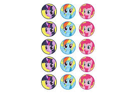 my pony cupcake toppers my pony party supplies sweet pea