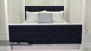4094139a dhp soho modern canopy bed youtube 4094139a dhp soho modern canopy bed