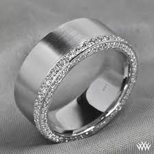 custom wedding band to fit engagement ring men deserve diamonds this handsome custom comfort fit wedding