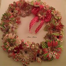 paper flower christmas wreath youtube
