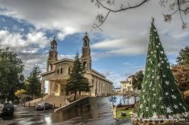 christmas decorations near st sarkis and bakhos church zaaitra