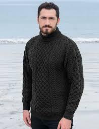 mens turtleneck sweater s turtleneck sweater polo neck sweater aran sweater market