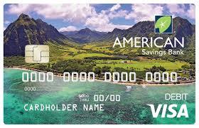 customized debit cards debit card american savings bank hawaii