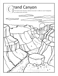 grand canyon coloring page at gilaben com arizona coloring pages