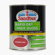 sandtex rapid dry plus high gloss paint