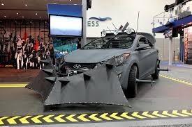 survival car hyundai unveils elantra coupe based zombie survival machine at