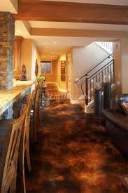 How To Stain A Concrete Basement Floor by Stained Concrete Basement Floor Google Search Home Mountain