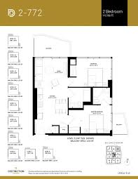 2 Bedroom Condo Floor Plan Two Bedroomdistinction Condos