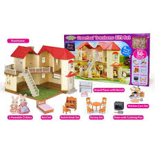 House Gift Calico Critters Townhome Gift Set 1 Jpg