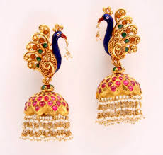new jhumka earrings cool jhumka earrings designs 2014 pecock stylish
