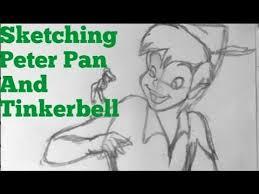 peter pan u0026 tinkerbell sketch drawing disney