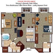 disney boardwalk villas floor plan accommodations and theming at