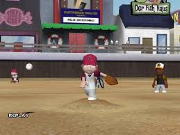 Backyard Baseball 10 Amazon Com Backyard Baseball 2005 Pc Video Games
