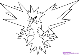 how draw zapdos step pokemon characters anime bebo pandco
