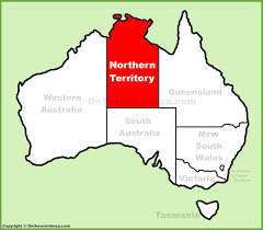 Austrailia Map Northern Territory Location On The Australia Map