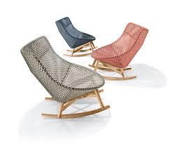 Jefferson Rocking Chair Vieques Rocking Chair Teak Armrests By Kettal Garden Armchairs