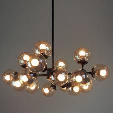 Industrial Lighting Chandelier Nordic Loft Retro Led Chandelier Lighting Glass Shade Led Pendant