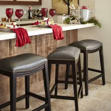 Farmhouse Style Bar Stools Halsted Pewter Backless Counter Stool Counter Stool Pewter And