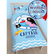 Peppa Pig Bed Set by Peppa Pig George Pirate Single Panel Duvet Cover Bedding