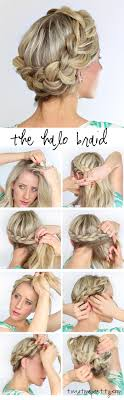 step by step braid short hair a fat halo braid twist me pretty
