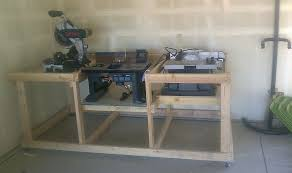 Table Saw Router Table Table Saw Router Table And Miter Saw Mobile Station By Holbs
