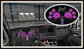 pink car interior kenworth t680 interior u0026 pink dial skin mod american truck