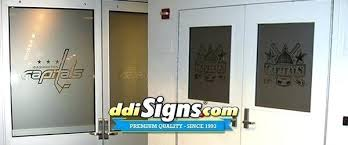 etched glass decals for doors sports team window etched glass