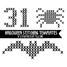 Halloween Printable Templates Diy Paint Stitched Pumpkins