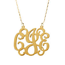 gold plated monogram necklace monogram necklace 18 k gold plated 925 sterling silver