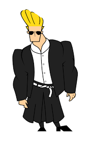 johnny bravo johnny u0027s wearing yohji yamamoto the iconic cartoon character is