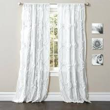 White Blackout Curtains 96 White Ruffle Curtains Teawing Co