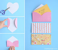 how to make envelopes folded heart envelopes one little project