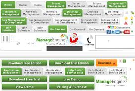 free help desk solutions manageengine products services