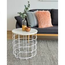 Wire Side Table Wire Basket Coffee Table Little Piece Of Me