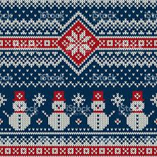 christmas pattern knit fabric winter holiday knitting pattern with snowman christmas and new year