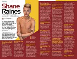 Challenge Shane Get Out Magazine Issue 254 2 March 9 2016 Shane Raines
