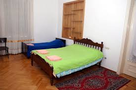 1st dorm with 2 single beds and 1 double bed kutaisi hostel old lviv