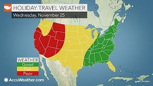 weather for thanksgiving thanksgiving 2015 travel forecast gets as you west nj