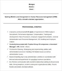 Human Resource Resumes Human Resources Resume Template Jospar