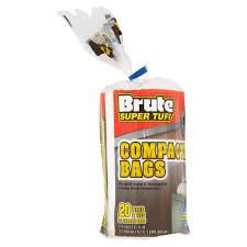 Kitchen Trash Compactor by Brute Super Tuff 20 Gallon Size Compactor Bags 20 Ct Walmart Com