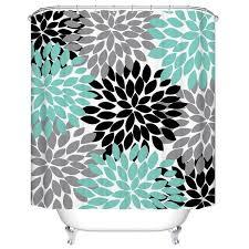 Waterproof Fabric Shower Curtains 13pcs Set Polyester Waterproof Fabric Shower Curtains 3d Printing